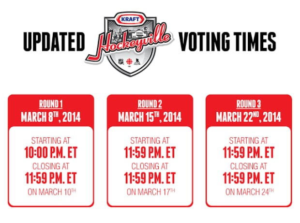 Updated Voting Times