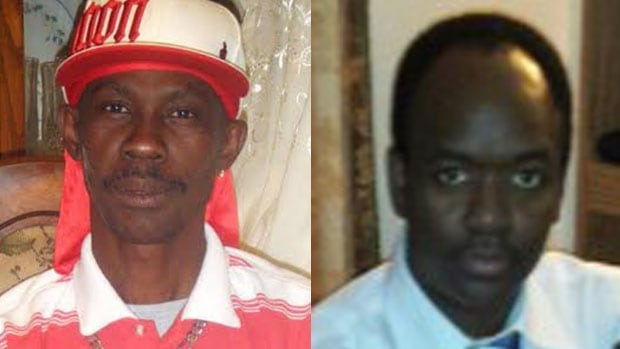 Fitzroy Harris, 50, and Thierno Bah, 41, were killed on Friday in the stabbing rampage at the Loblaw warehouse in west Edmonton.