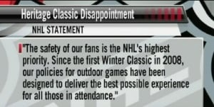 NHL statement