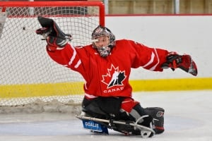 Corbin Watson, sledge hockey