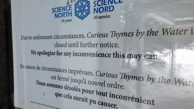 Curious Thymes owner Vince Potter said he could not comment on the restaurant closure at this time, but said anyone who had an event booked directly with the restaurant has been contacted.
