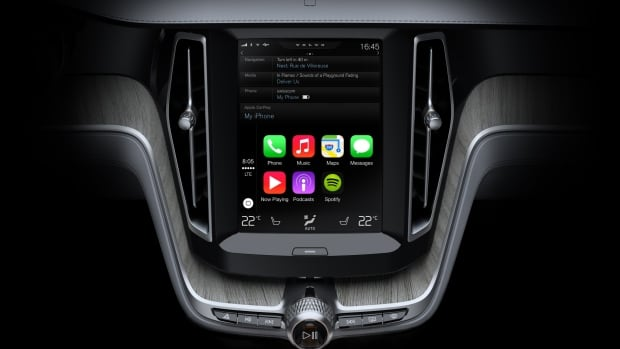 Volvo says the first car to offer CarPlay will be its new XC90 SUV, which will be introduced later in 2014, and is designed with a large iPad-style portrait-oriented touch screen in the dashboard.