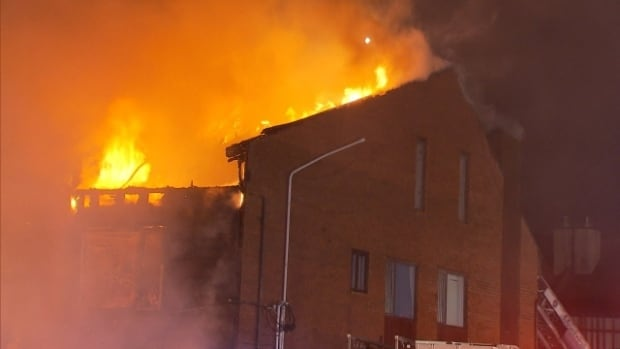 This fire last week in Côte Saint-Luc, started by a molotov cocktail, was on the property of a numbered company with ties to Tyronne Candappa.