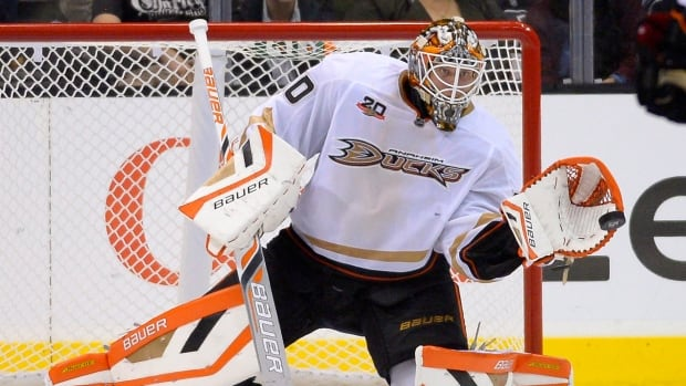 Viktor Fasth, seen earlier this season with Anaheim, is in his second NHL season after playing for several years in Europe.
