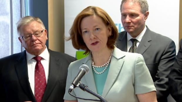 Alberta Premier Alison Redford announced the details of Bill 1 during a news conference at a YMCA daycare in Edmonton on Tuesday.