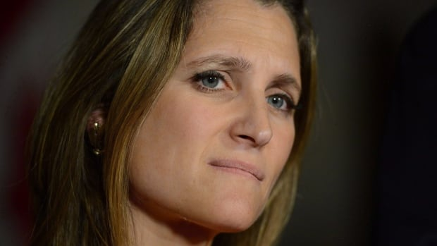 "Liberal MP Chrystia Freeland said yesterday's swearing-in ceremony ""was a wonderful day for our country and a privilege to be part of."""