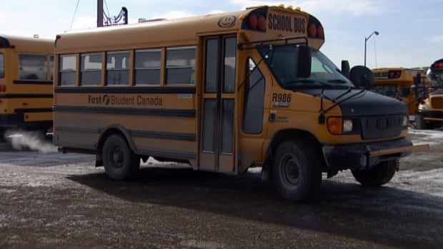 Kendra Lindon, a bus driver for 10 years, used her SUV to pick up students on Feb. 12. The temperature that morning felt like -26 C with the wind chill.