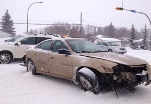 Crash at Arcole Dr. and Rothwell Street, Regina skpic