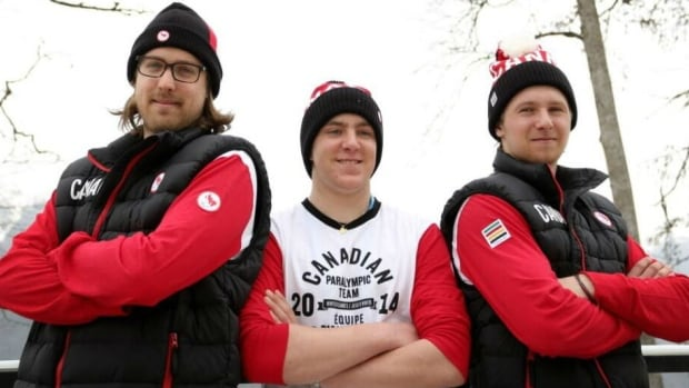 Canadian para-alpine skiers Robin Femy, Mac Marcoux, and B.J. Marcoux. On the eve of the biggest competition of his life, Mac has to adjust to a new guide, after his brother suffered a back injury and won't be able to ski in Sochi. Former downhill ski racer Robin Femy will step in to guide Marcoux down the course in Sochi.