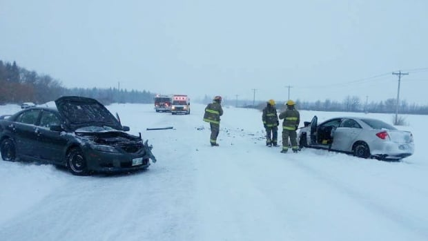 A 20-year-old woman and 53-year-old woman were sent to hospital for precautionary measures after a crash Thursday on Highway 67 and Road 7E in the Rural Municipality of Rockwood.