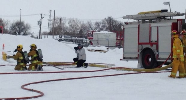 Firefighters train on mock oil blaze skpic