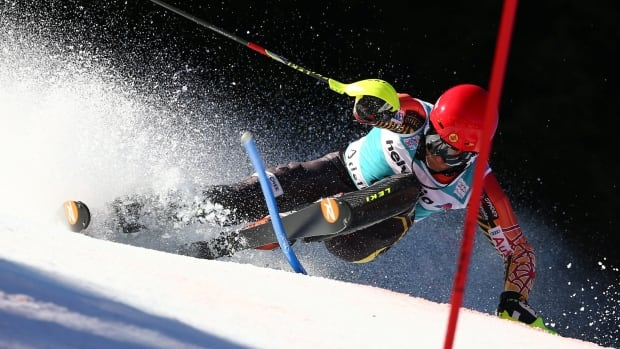 Canada's Micheal Janyk, seen competing in Switzerland in January, reached the world championship podium.