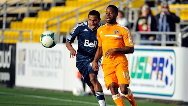 Ethen Sampson, left, has appeared in five of Vancouver's pre-season matches leading into the 2014 campaign.
