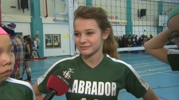 Team Labrador volleyball player Mckenzie Hutchings