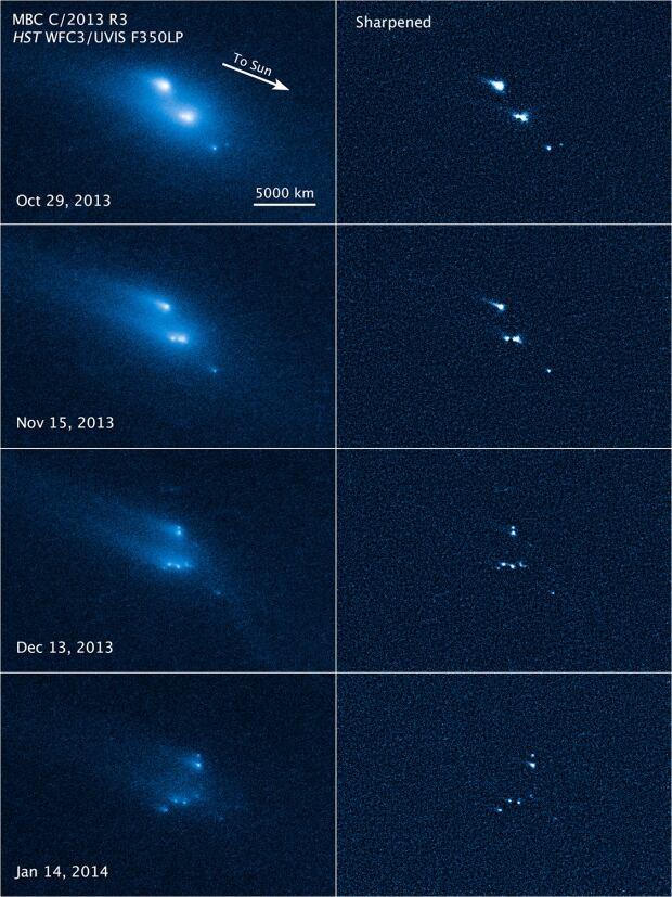 Asteroid breakup