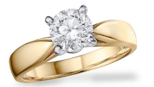 The stolen ring is a two-carat solitaire set in 14-karat yellow gold