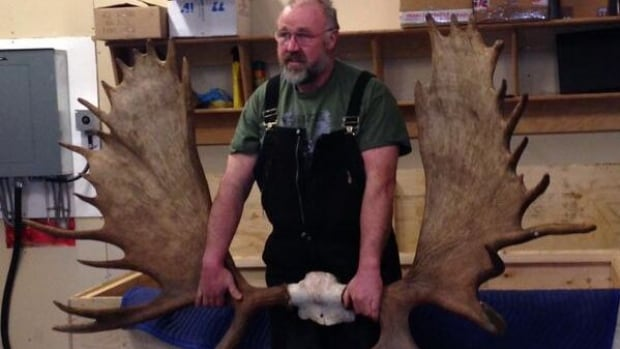 Dawson City, Yukon, resident Heinz Naef has sold his world record largest moose antler rack.