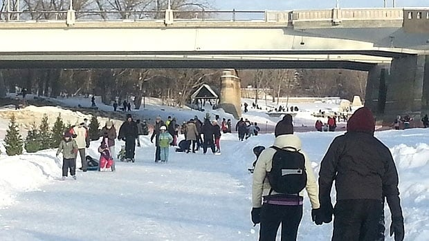 The Forks said as many as 60,000 people may come out to enjoy skating and other activities this weekend, due to the weather forecast.