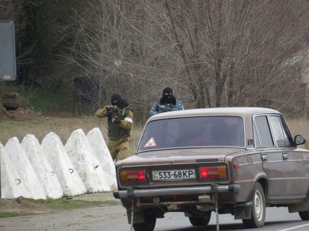 Crimea checkpoint