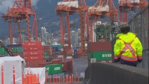 Port Metro Vancouver containers - trucker strike