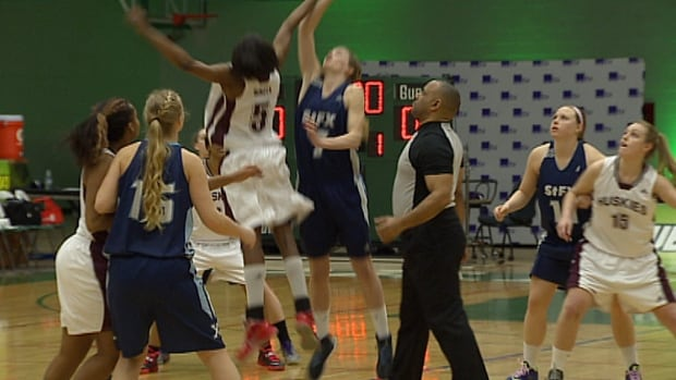 Saint Mary's University and St. FX tip off the AUS women's basketball 2014-15 championship at UPEI. Next year's championship will be in Halifax's Metro Centre.