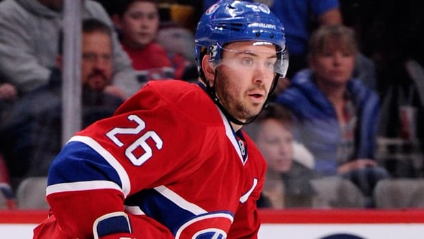 Josh Gorges has one goal and 12 assists in 63 games this season with Montreal.