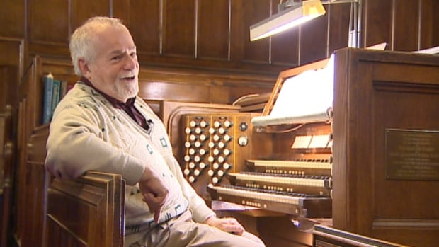 Freeman Dryden says pipe organs are a 'rush' to play.