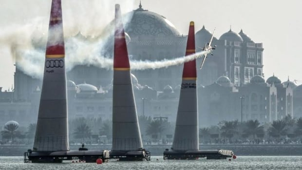 The world championship air-racing competition was recently held in Abu Dhabi. Pilots are timed as they weave high-performance aircraft around giant pylons, at speeds of over 300 kilometres an hour.