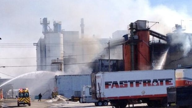 Calgary firefighters battled a blaze in Bonnybrook last week at IKO Industries, which is a shingle manufacturer in the city's southeast.