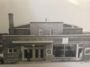 Historic photo of the Rio Theatre in Levack.