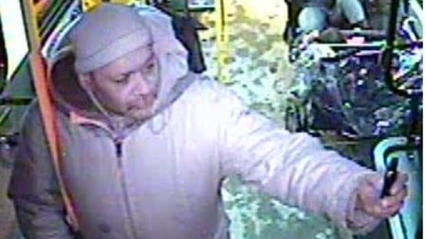 Police are looking for this man, wanted in connection to the robbery and verbal assault of a transit driver.