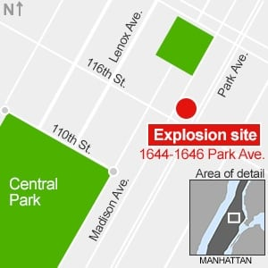 NYC explosion map