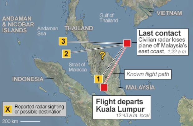 Map: Confusion over radar signals