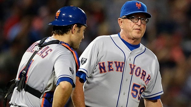 Mets pitching coach Dan Warthen, right, apologized after using a racial slur in describing the translator for New York pitcher Daisuke Matsuzaka.