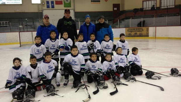 Players from the Pre-Novice Pessamit team, who were staying at Château Roberval, were between five and seven years old.