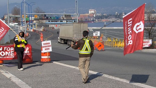 The truckers' strike stalled exports through the Port of Metro Vancouver  in March and may complicate the recovery in trade that began in February.