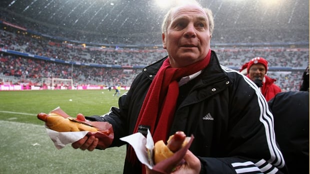 Uli Hoeness, shown in this file photo, is stepping down immediately as president of European champion Bayern Munich.