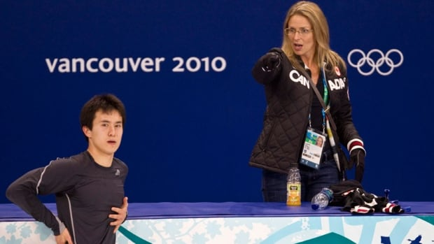 Canadian Lori Nichol, shown here working with Patrick Chan at the 2010 Vancouver Games, has choreographed the programs for 10 Olympic medallists.