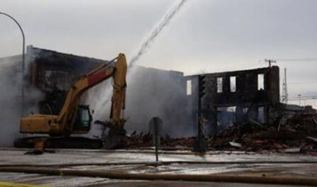 Moose Jaw fire aftermath