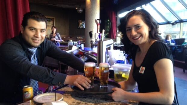 Pony Corral bartender Christian Cruz and server Nicole Balliet say they welcome new liquor laws that will allow customers to order a drink without having to order food as well. The change happens April 1.
