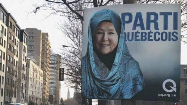 This Photoshopped image of Pauline Marois was created by Montreal artist Marina Totino, who says she thinks the Parti Québécois leader looks beautiful in a hijab.