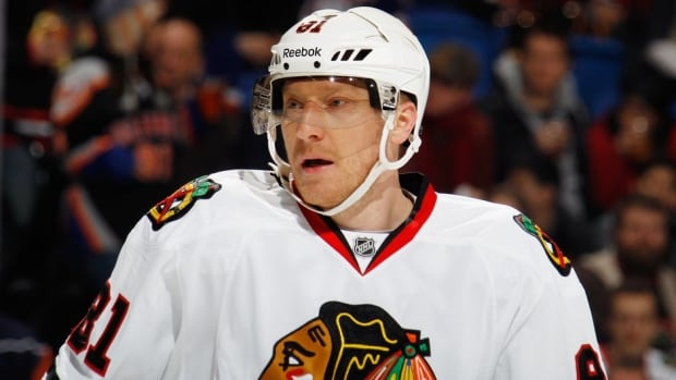 Chicago Blackhawks forward Marian Hossa has 24 goals and 26 assists in 57 games this season.