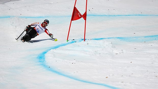 Canada's Kimberly Joines took bronze in the slalom earlier in the Games.