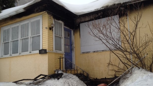 A home on Evanson Street appears badly burned after a house fire broke out Saturday night.