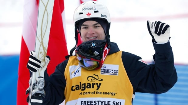 Canada's Mikael Kingsbury, shown here earlier this year, made Canadian freestyle skiing history on Sunday.