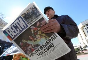 UKRAINE-CRISIS newspaper