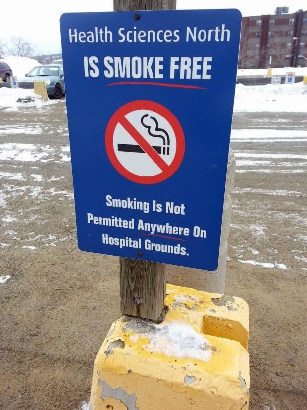 sudbury hospital no smoking sign