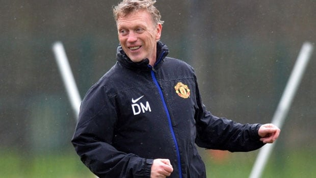 Manchester United manager David Moyes says he has not had discussions with the team's board about his future.
