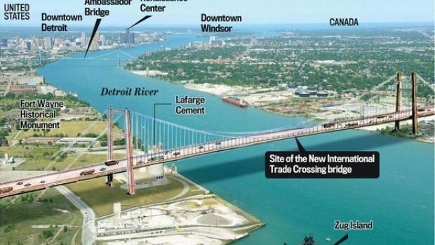 Detroit River International Crossing Diagram