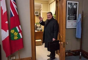 Finance Minister Jim Flaherty bids farewell